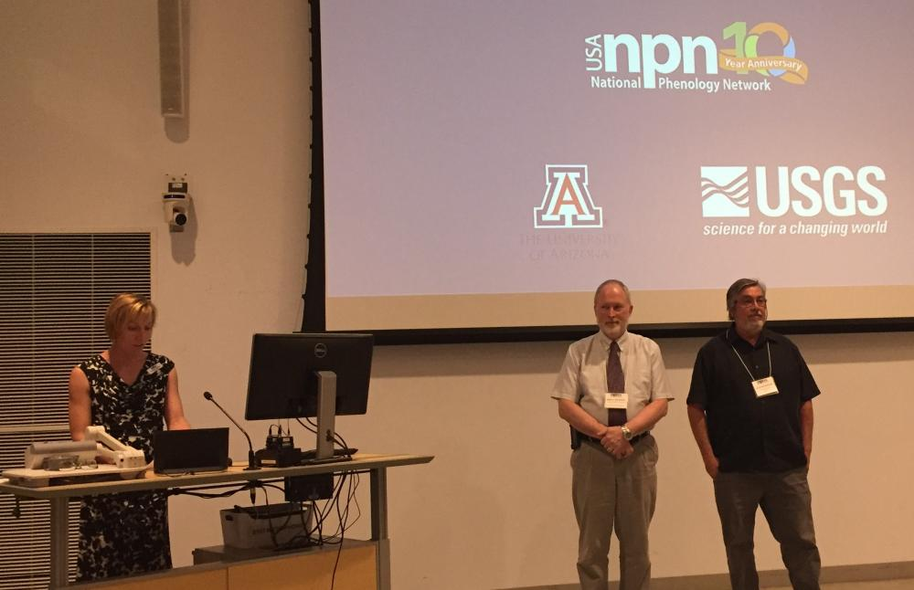 Mark Schwartz and Julio Betancourt receive special recognition at USA-NPN anniversary event