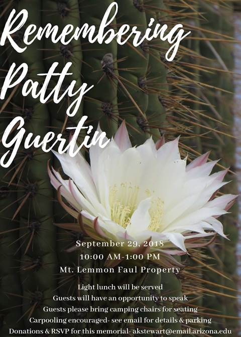 Patty Guertin Memorial flyer