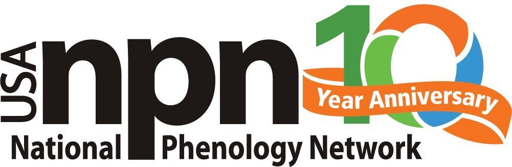 USA-NPN 10 year anniversary logo