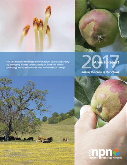 2017 USA-NPN annual report cover