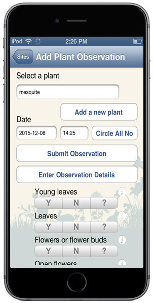 Nature S Notebook App