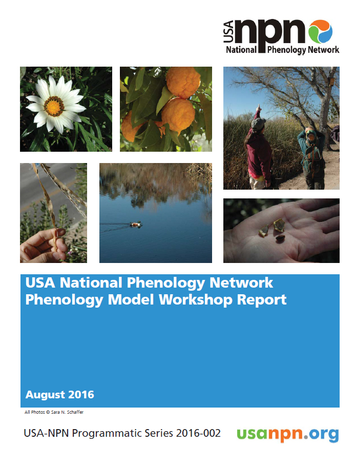 Phenology Workshop Report Cover