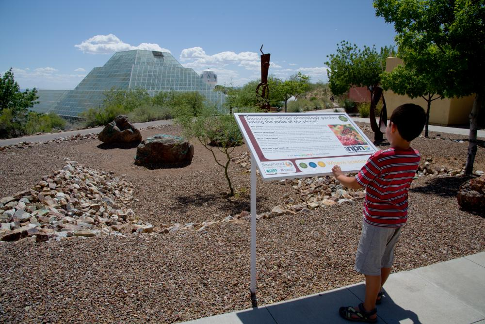 Biosphere 2 sign view