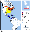 Distribution map for species Dendroica virens